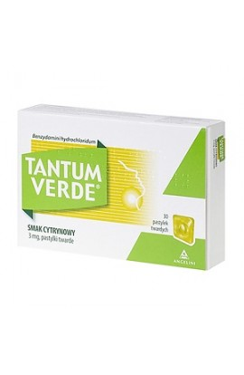 Tantum Verde lemon flavor, 3 mg, lozenges, 30 pcs.