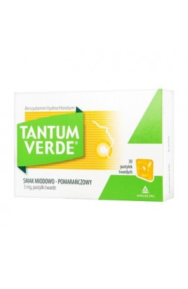 Tantum Verde honey-orange flavoring, 3 mg, lozenges, 30 pcs.