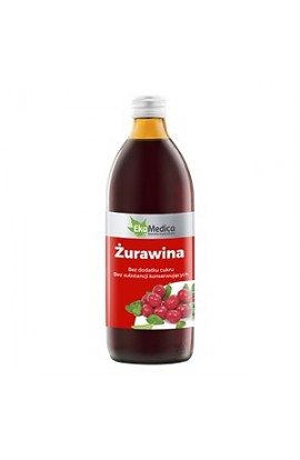 Cranberry 100%, cranberry juice, 500 ml (EkaMedica)