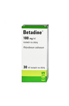 Betadine, 10%, solution for skin, 30 ml
