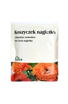 Basket with calendula (syn. Calendula flower), single grass, 50 g (Flos)