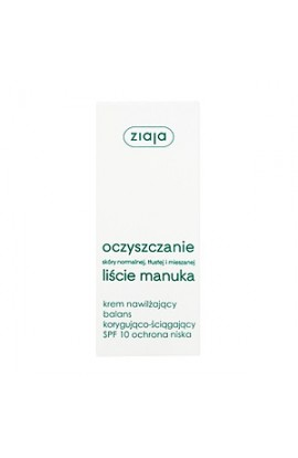 Ziaja Manuka Leaves - Cleansing, Moisturizing, Corrective and Astringent Cream, SPF 10, 50 ml