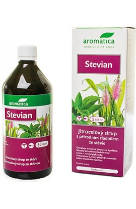 Aromatics, Stevium, plantain syrup with stevia, 210 ml