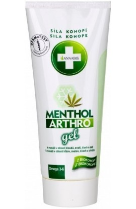 Menthol Arthro gel cooling for massage in joints, muscles, tendons and back 200 ml Annabis