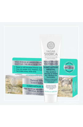 "NATURA SIBERICA, Natural siberian toothpaste ""Kamchatka mineral"", 100 G"