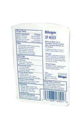 Blistex, Lip Medex, External Analgesic Lip Protectant, .38 oz (10.75 g)