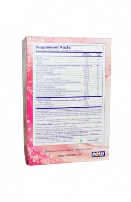 Now Foods, Effer-C, Effervescent Drink Mix, Cranberry Pomegranate, 30 Packets, 5.82 oz (165 g)