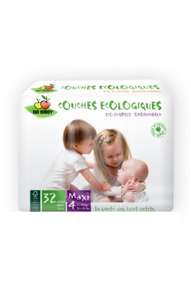 BIO BABBY, BABY DIAPERS MAXI 7-16 KG, 32 PCS