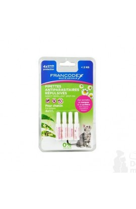 Francodex Pipette repellent cat 4x0.6ml