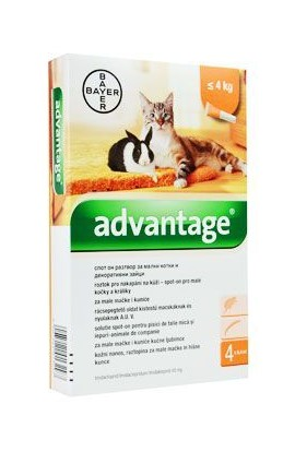Bayer Advantage Spot-On kočka do 4kg 40mg 4X0,4ml