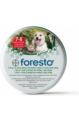 Bayer Foresto collar for small dogs up to 8kg 38cm