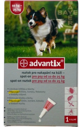 BAYER Advantix Spot on pro psy 10-25kg 1x2,5ml